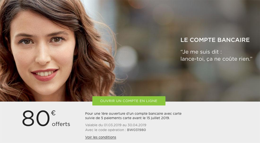 80€ offerts chez Fortuneo pour l'ouverture d'un compte
